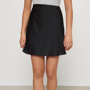 ⚪️DYNAMITE ‼️NWT‼️ Satin Mini Skirt